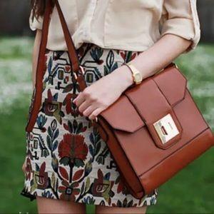 Zara Tapestry Mini Skirt Jacquard Floral Ethnic